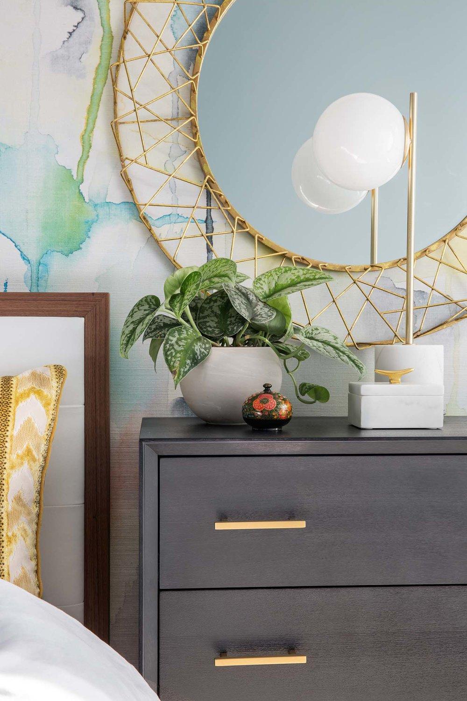 Best bedside table design in Boston and Cambridge condo interior designer top ideas Dane Austin Design
