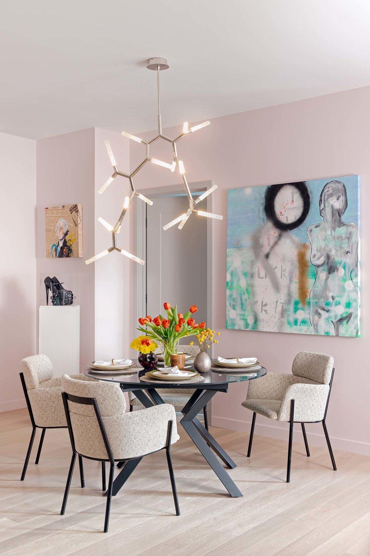 Best dining room design in Boston and Cambridge condo interior designer top ideas Dane Austin Design