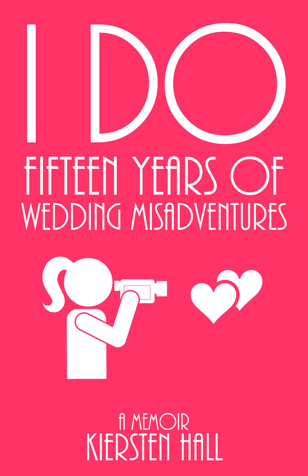 """I Do"" Fifteen Years of Wedding Misadventures     Amazon Review:  'It's just an awesome page-turner. If you're getting married, you definitely need to buy ""I Do"". If you're not getting married/already have gotten married and you're looking for some good laughs, ""I Do"" is totally worth it. Kiersten's style of writing is just really refreshing and makes funny stories even funnier – crisp, satirical prose elegantly put together. She takes years of great stories and boils them down to the best ones for the reader to enjoy.'     Amazon Review:  'I would have never thought that a wedding videographer would deal with so many different situations! While reading this book, I encountered some interesting information, some winces and cringes, some genuine laughs out loud – but I can honestly say that all of it was entertaining! In addition, Kiersten's casual, witty, and amusing writing style made me feel like I was sitting in her living room as she shared these scenarios and anecdotes with a group of friends. Thanks for sharing!'    Kiersten Hall PO Box 623 Austin, MN 55912 khallbooks.com & khallbooks@gmail.com Copyright 2014-2018 by Kiersten Hall K Hall Books: 9780692791875 Amazon & CreateSpace ISBN-13: 9781512282283  All rights reserved, including the right of reproduction in whole or in part in any form. Excerpts from Wedding & Event Directory Windows on Weddings, Inc. Copyright 1999 & 2000 by Kiersten Farr, nee Hall All rights reserved, including the right of reproduction in whole or in part in any form. Between 1990 through 2006, I co-owned ""I Do"" Productions Wedding Videography. As a co-owner, I worked with the couples both pre and post-nuptial, as well as videotaped and edited the weddings. At the height of our successful years, ""I Do"" actually had three video crews going out on Saturdays. The stories within this book are of the weddings I personally worked with, including videotaped and/or edited. This book is a work of non-fiction. Full names have been withheld for privacy purposes. The experiences, impressions, and anecdote I relate remain substantially intact.    ""I Do"" Book Reading - Chatfield, MN Public Library February 25, 2016 CCTV Link"