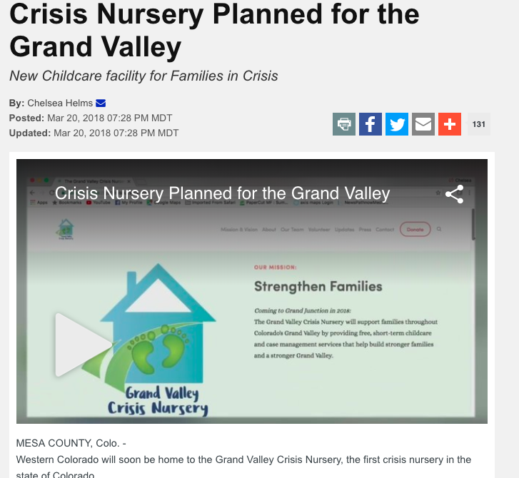 KREX: Crisis nursery planned for the Grand Valley