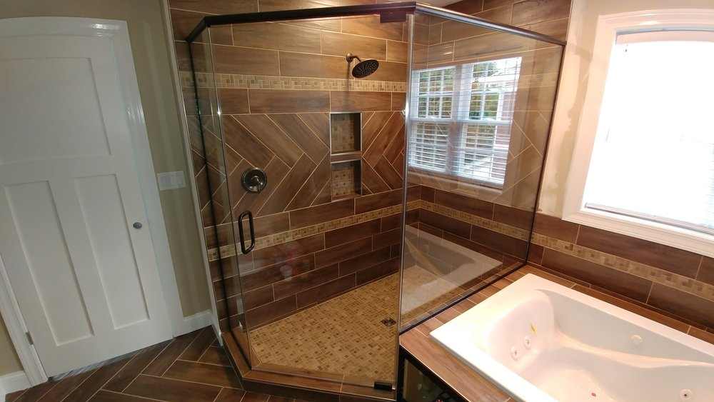 Large Custom Heavy Glass Shower Featured In Harold