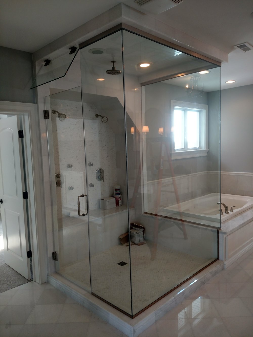 Custom Glass Enclosure For Waterfall Shower U0026 Steamer