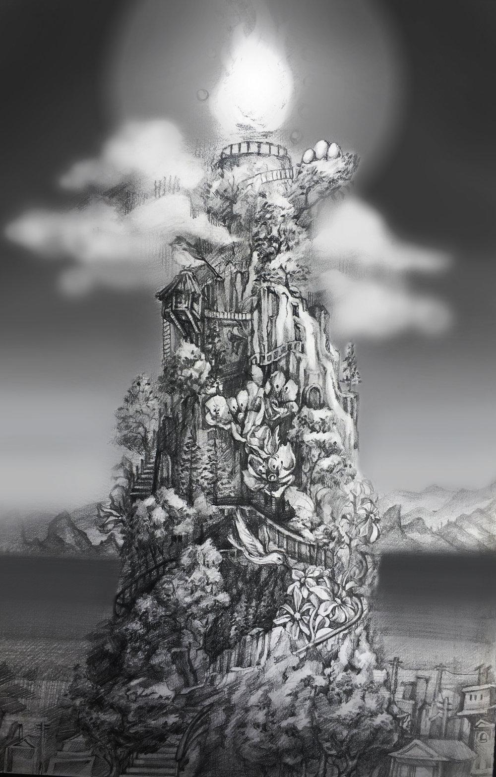 Mountain - IllustrationDay Night