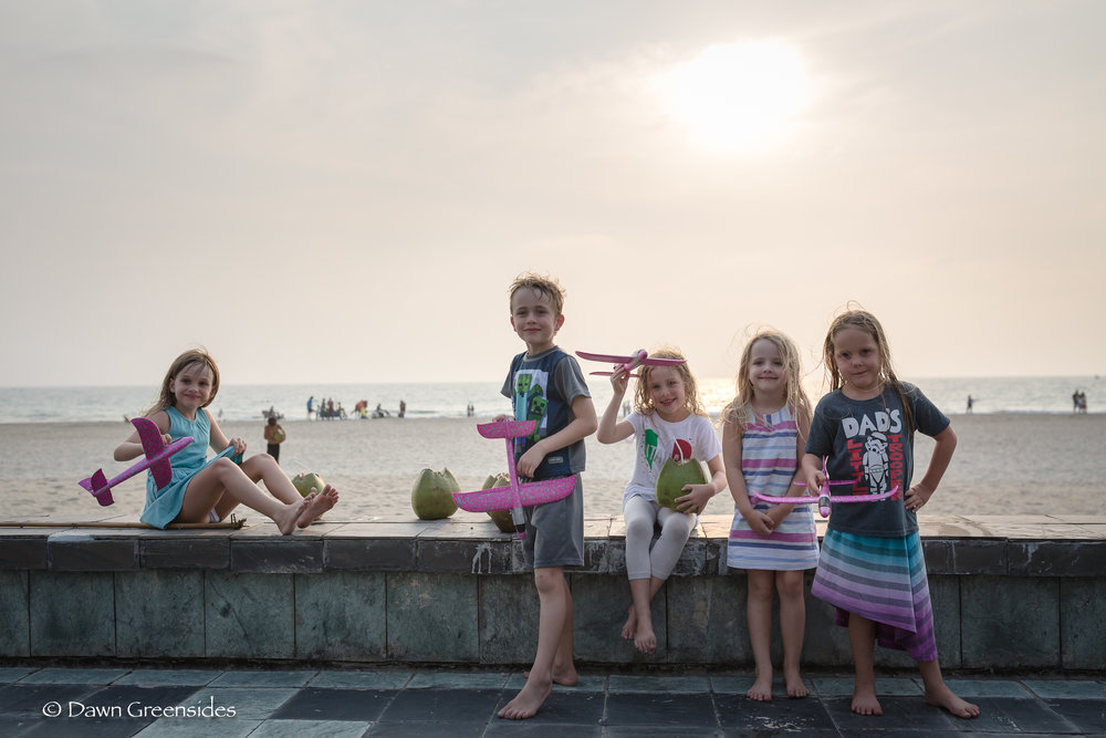 These kids! We are going to miss our friends the Swifts and D'Adamo's when they head to new posts this summer. Not sure what Piper is going to do without her crew. This picture is from a visit to  Ngwe Saung , Myanmar.