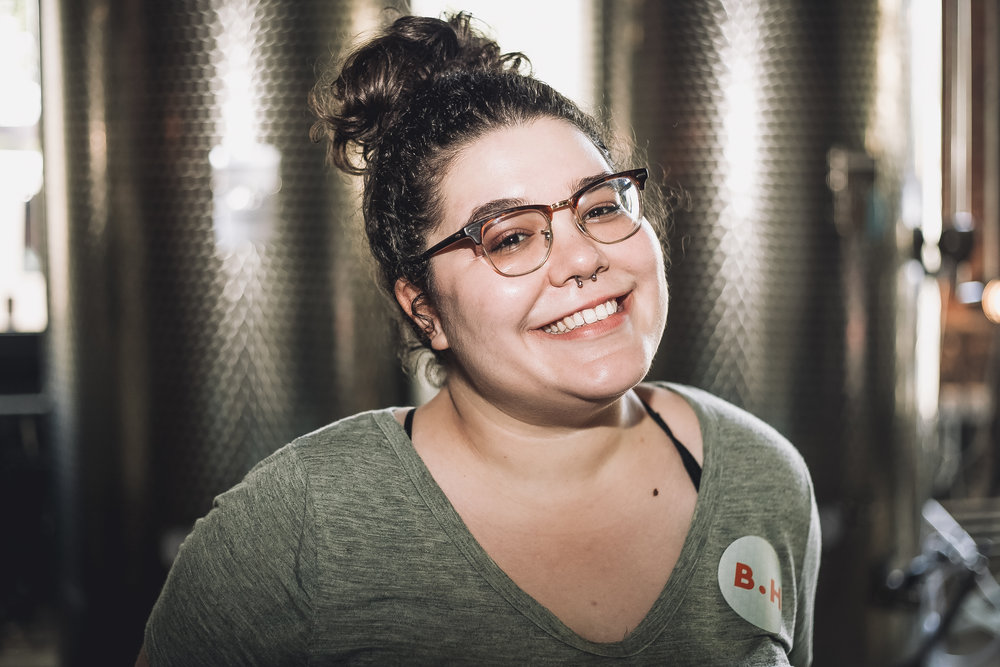 This is Vanessa, our new Behold.Her fellow! She's cheesin' during our light test.