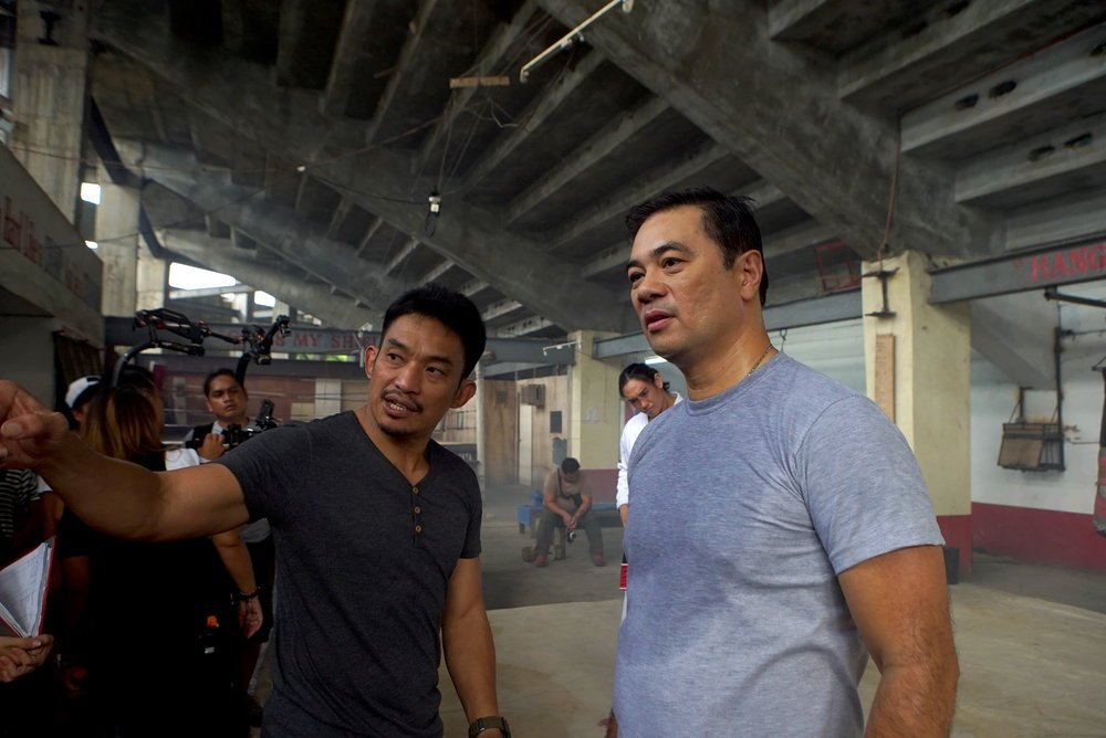 Del Rosario and director Vincent Soberano