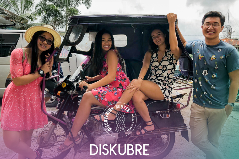 The four young adventurers of  Discovering Routes travels with Diskubre take a trip to their land of ancestry for a journey of self-discovery. Frpm left,  Feih Hidalgo, Elaina Ficarra, Alex Brown, and Calvin Santiago.