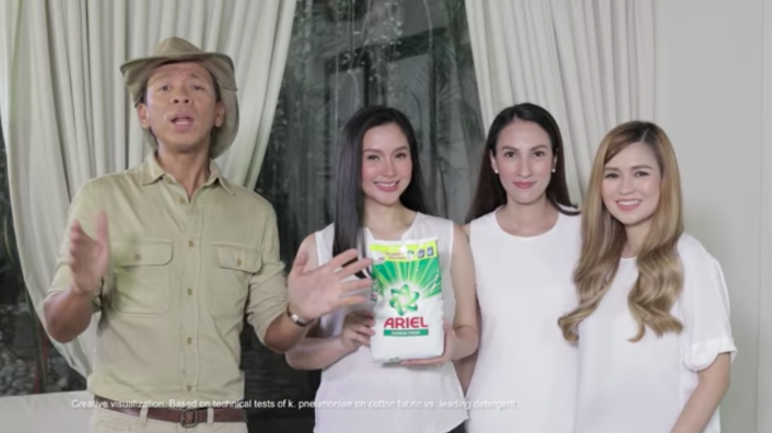 Kuka Kim (Atienza), Mariel Rodriguez-Padilla, Joy Sotto, and Say Alonzo swear by Ariel for the removal of  kulob  stains