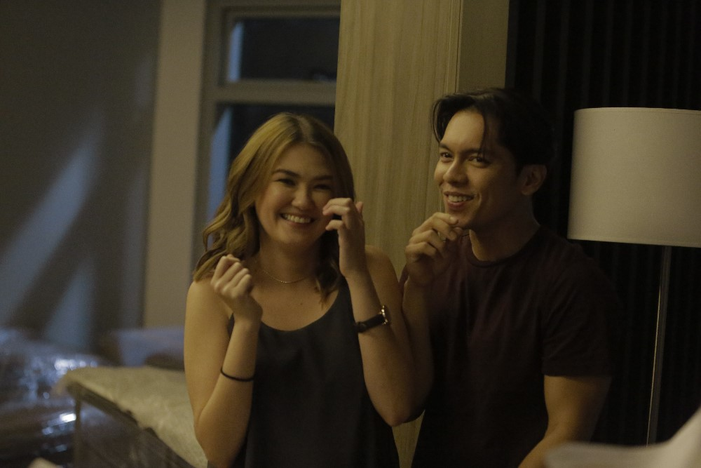 "ABS-CBN Film's new film production brand, Black Sheep, marks the reunion project of Angelica Panganiban and Carlo Aquino in the film ""Exes Baggage"""