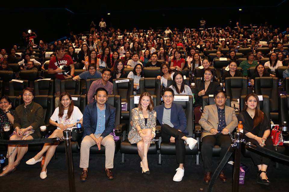 Angelica Panganiban and Carlo Aquino during the premiere of Exes Baggage at the Reel Cinema, Dubai Mall