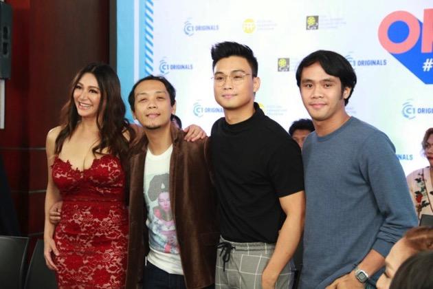 Bagyong Bheverlynn lead Rufa Mae Quinto, director Charliebebs Gohetia, EA de Guzman, and Jude Matthew Servilla