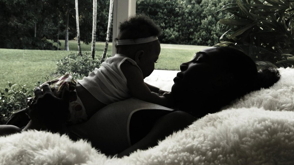 Serena and daughter Alexis Olympia Ohanian Jr.