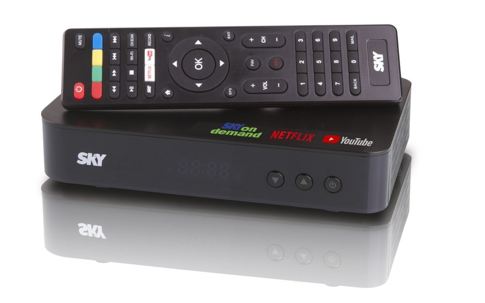 The SKY On Demand Box comes with a remote control for subscribers' easy switching from cable to streaming TV