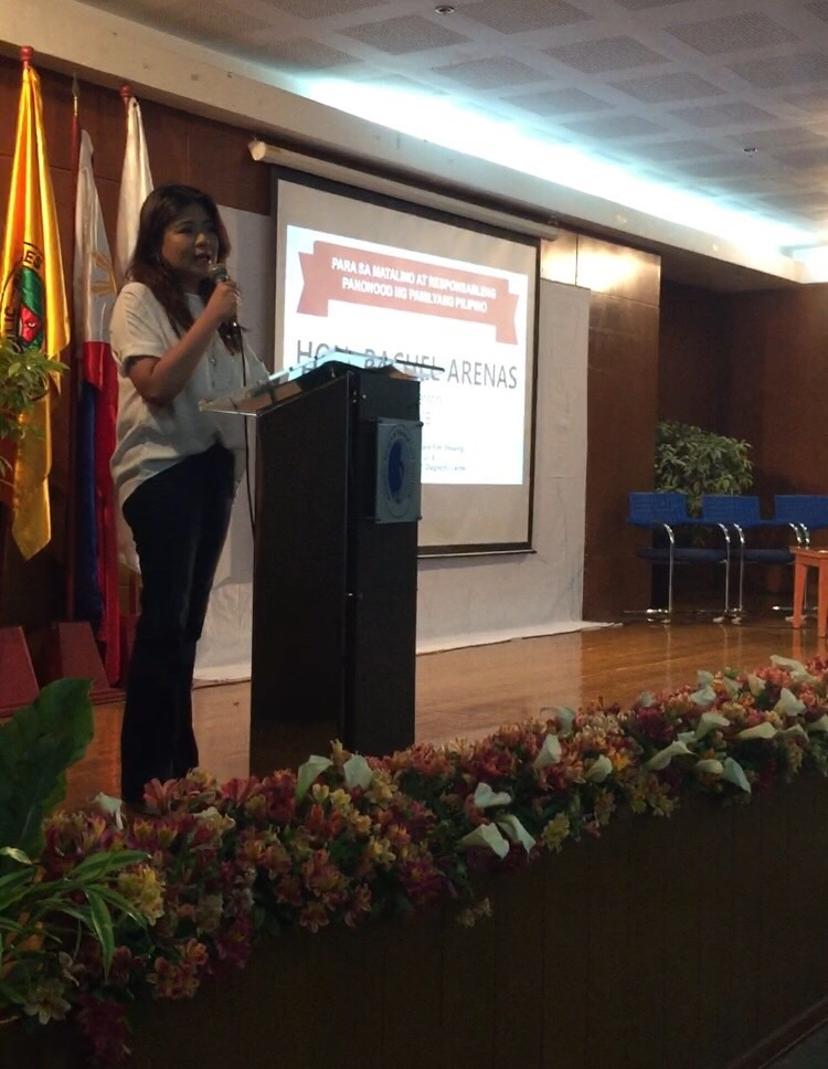 MTRCB Chairperson Rachel Arenas delivering her opening message