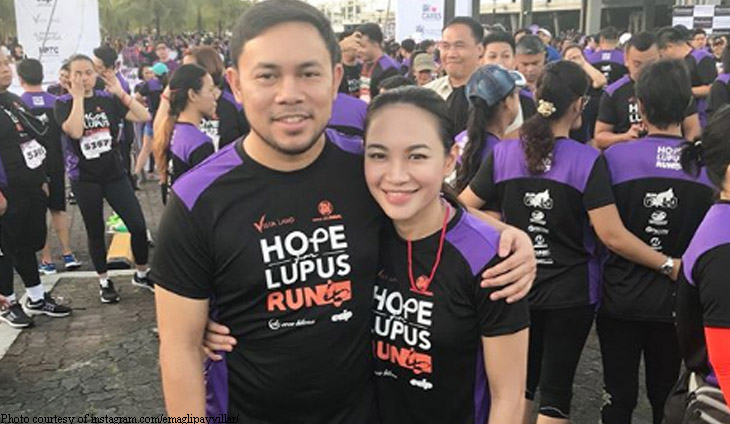 Aglipay-Villar was diagnosed with lupus in 2007 but with medication and proper management of the disease she lives a normal life with husband Mark Villar.
