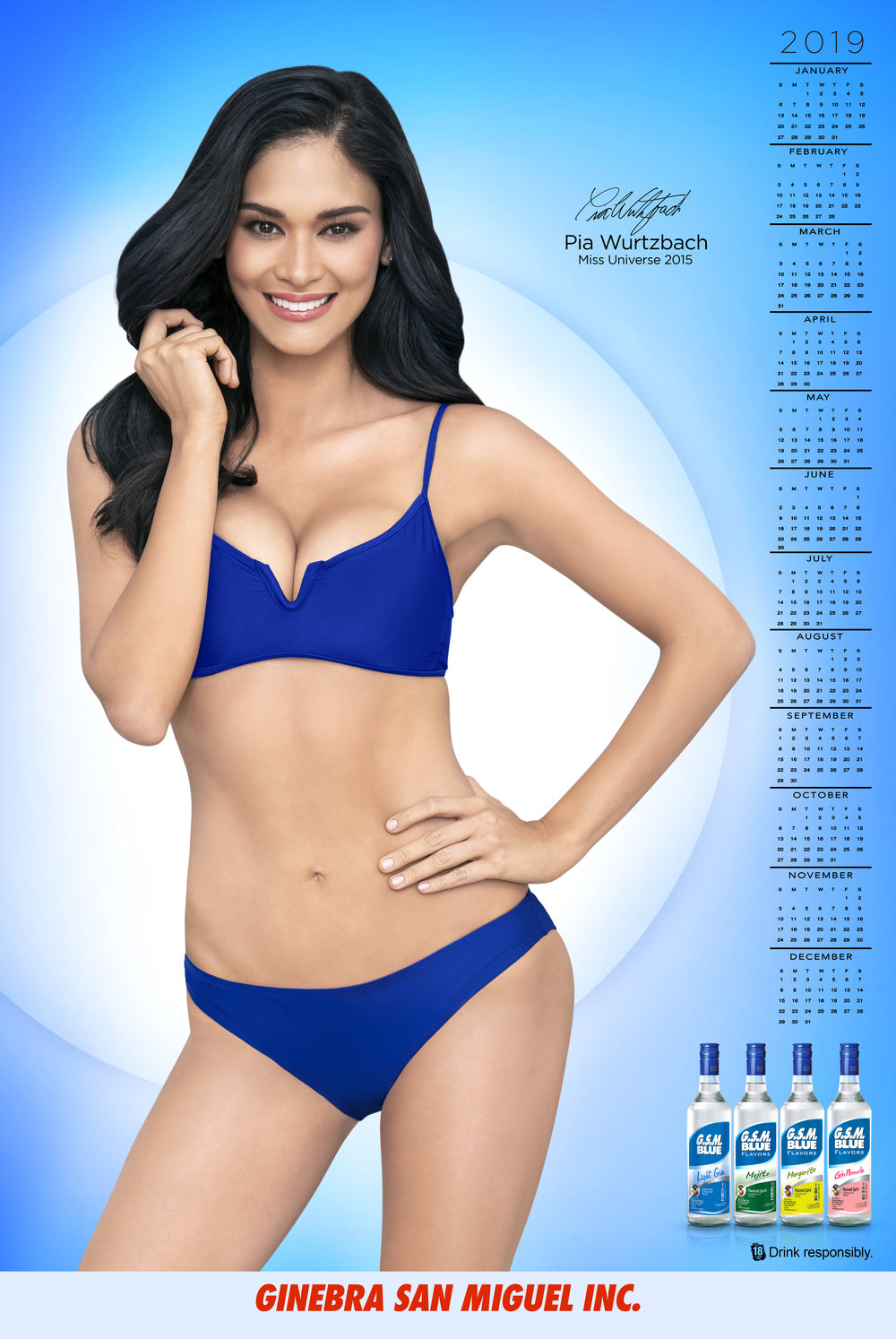 Pia in the GSM Blue calendar layout