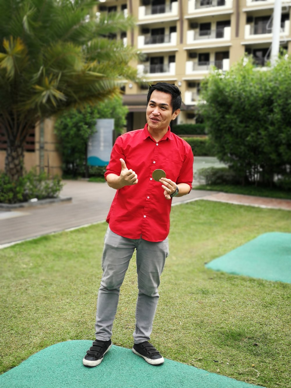 Luna performs magic to earn extra cash to help pay for their condo unit in Levina Place Alvher a.k.a. Volter The Magician demonstrates one of his favorite coin tricks