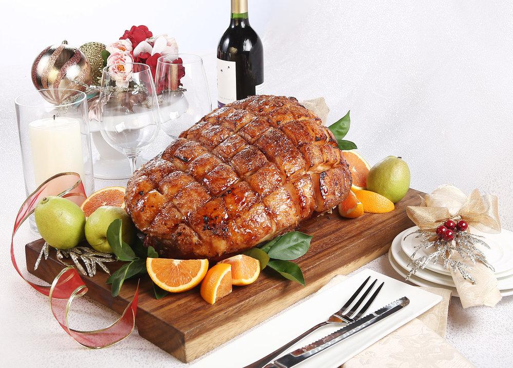 Honey Glazed Leg of Ham.