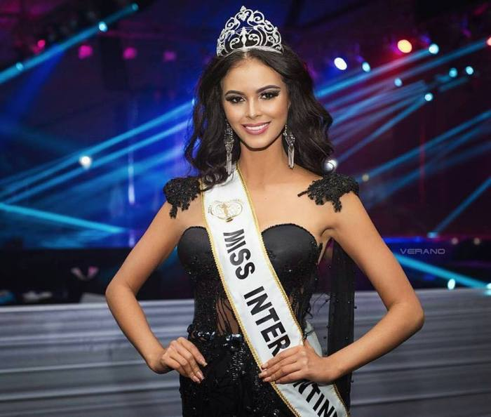 Reigning Miss Intercontinental Veronica Salas Valllejo was in Manila when the announcement the pageant would be held here