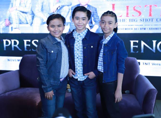 NT Boys Francis Concepcion, Mackie Empuerto, and Keifer Sanchez
