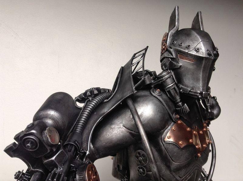 The Dark Knight, a metal sculpture by Ram Mallari