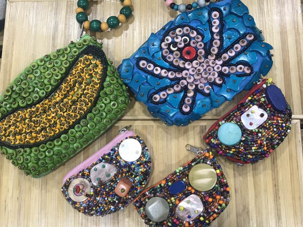 Locally made colorful bags
