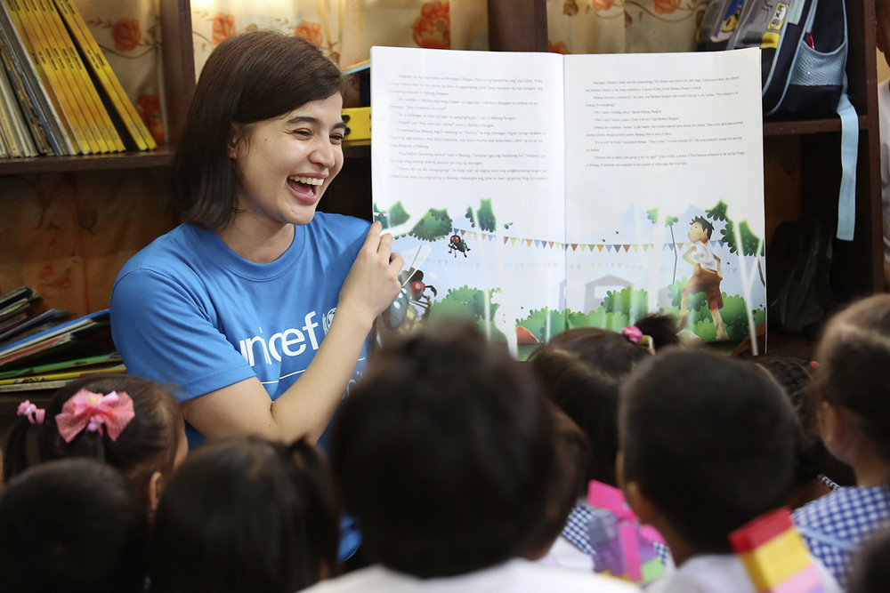Anne Curtis suppots UNICEF's various advocacies, including educaton
