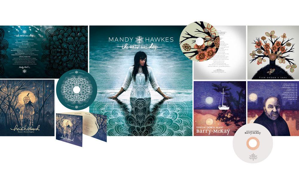 MUSIC CD PACKAGING   Heidi Green: Art Direction, Illustration