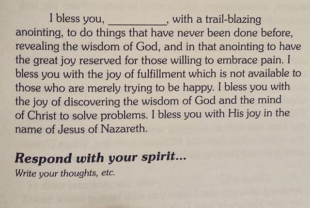 I bless you _