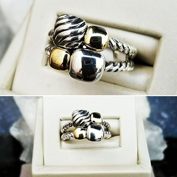 Pre Loved & Retired!  Polished! Chicklet Mosaic David Yurman Ring  $449.99