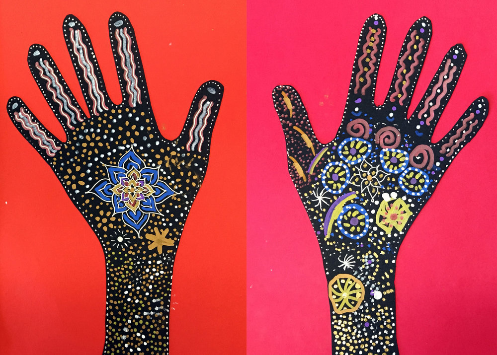 Henna Hands Art Room Projects