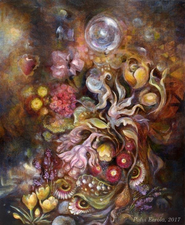 """Living Treasure"", 58 x 68 cm, acrylics on canvas board, 2017"