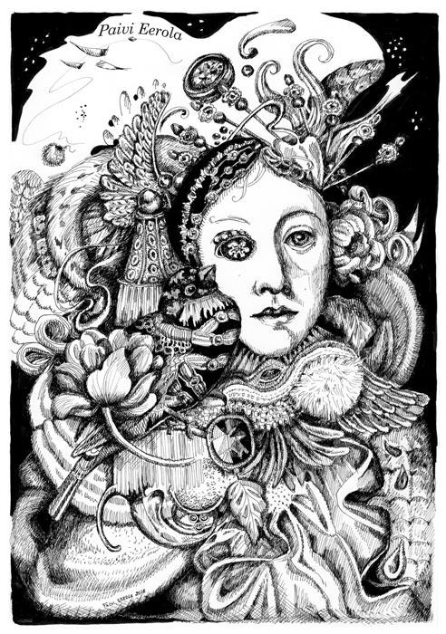 """""""Antonina"""", ink drawing, 2018"""