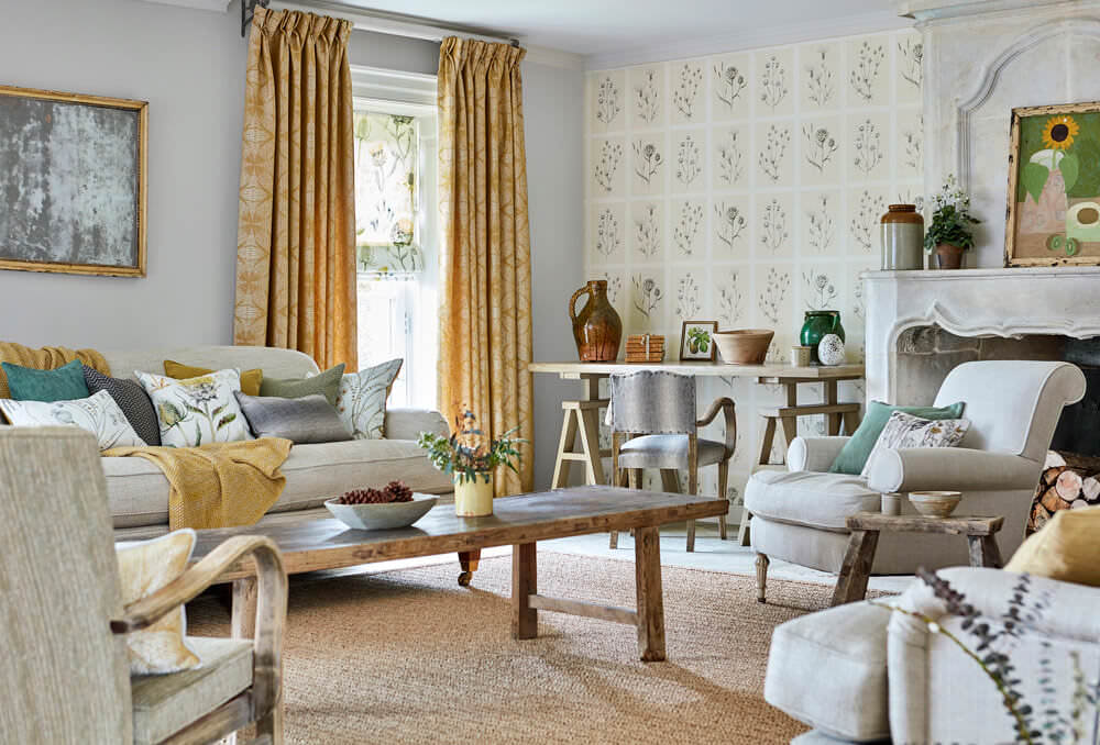 fabric-curtains-mustard-geometric-floral-living-room-sycamore-weave-embleton-bay-sanderson-style-library.jpg