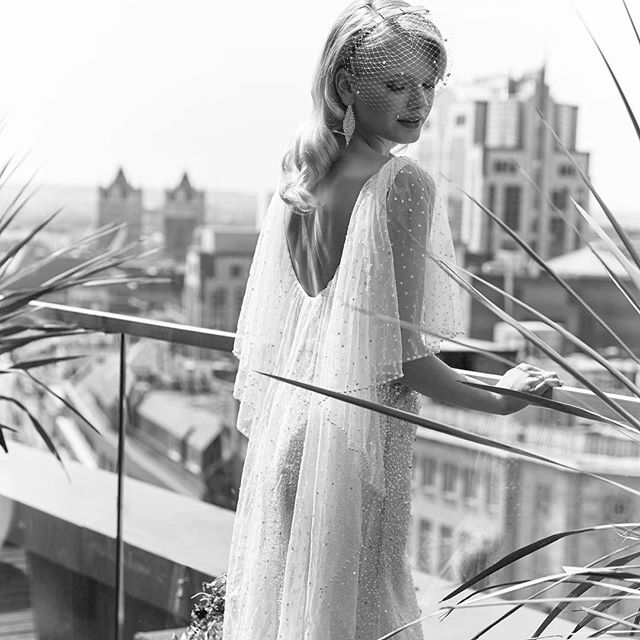 I can't get enough of this oh so glamorous shot in @youyourwedding featuring my 'Carina' veil.  Delicate stars and beading on a half face veil, handmade in London with love ❤️ This dress by @elizajanehowell makes me want to get married again- stunning! Thank you @huntpeta and @mollycoughlan as always! 📸by @danwillphoto
