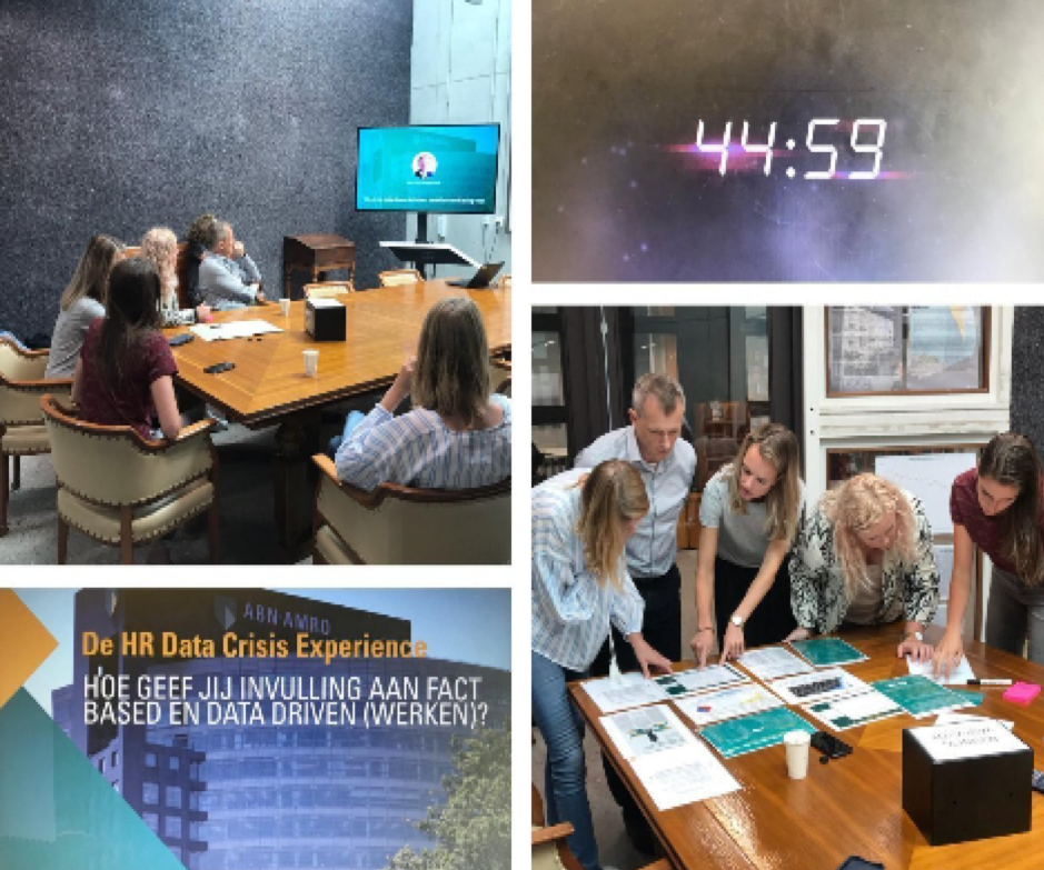 Images from ABN Amro's Escape Room devised to engender a fact-based approach to HR