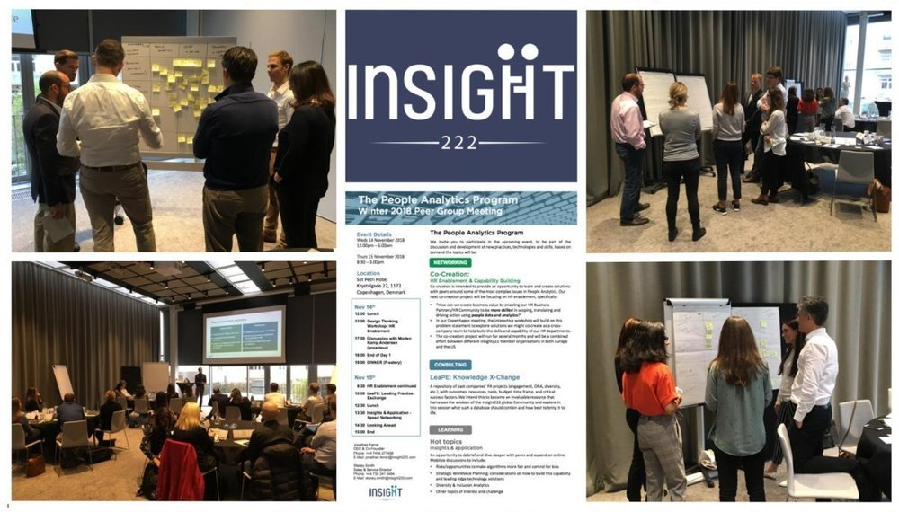 Images from the Winter Peer Group Meeting of European members of Insight222's People Analytics Program in Copenhagen