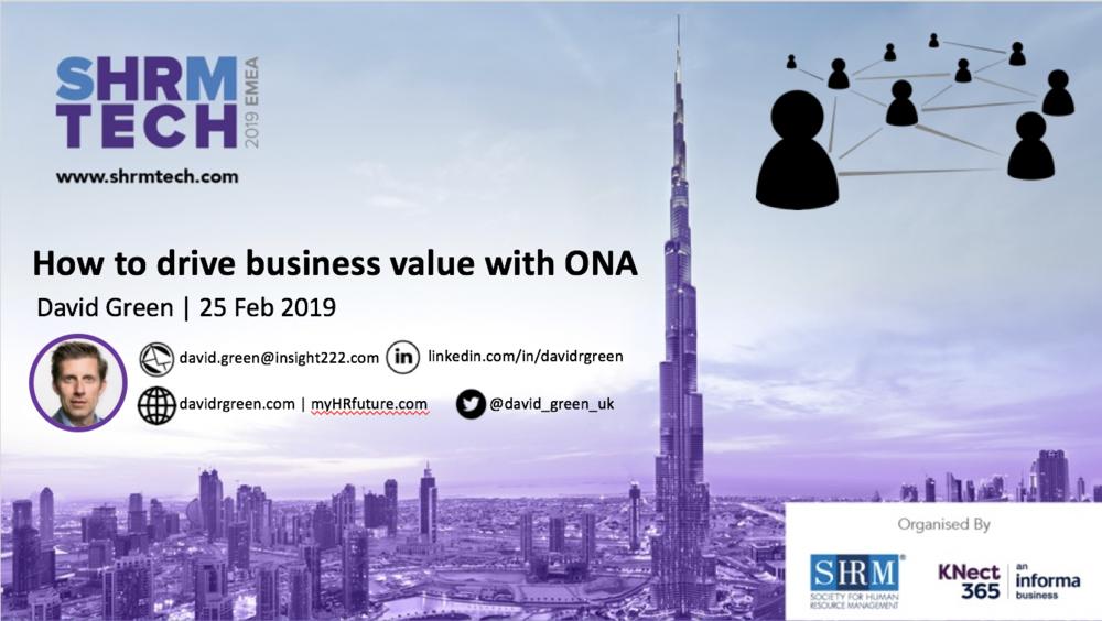 David Green, SHRM Tech Dubai, ONA