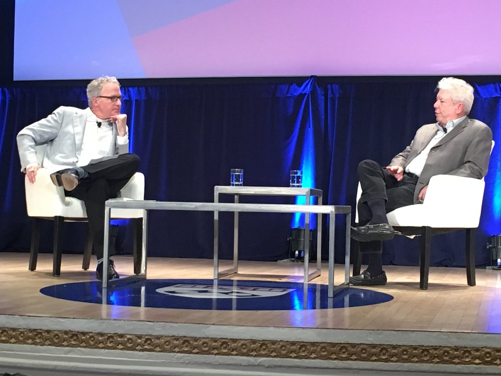 Richard Thaler in discussion with Cade Massey