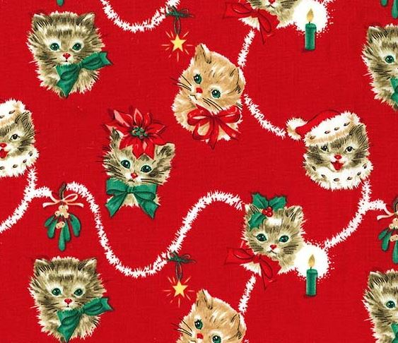 Kitty Garland Fabric by Michael Miller
