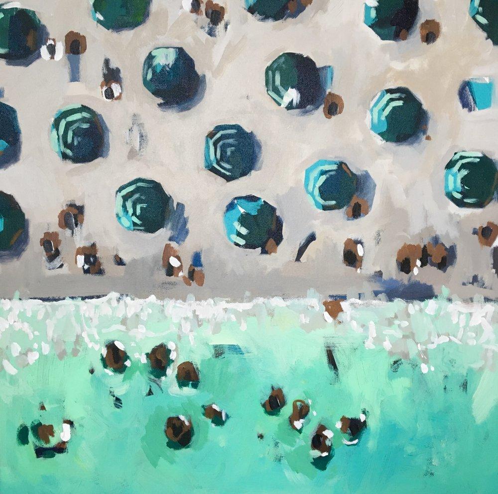 Nina Brooke Green Dream, 2018 80 x 80 cm acrylic on canvas £ SOLD