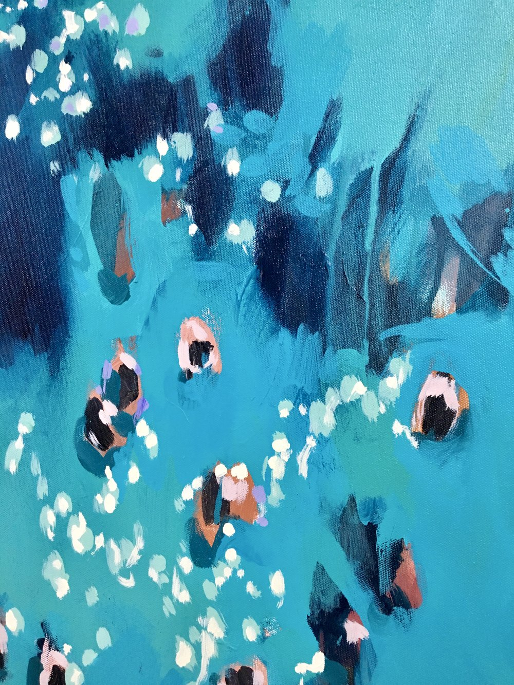 Blue Swimmers (detail), 2018