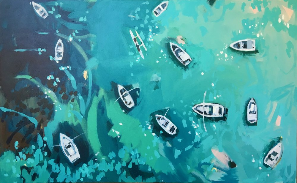 Nina Brooke Fisherman's Reef Acrylic on canvas 75cm x 117cm SOLD