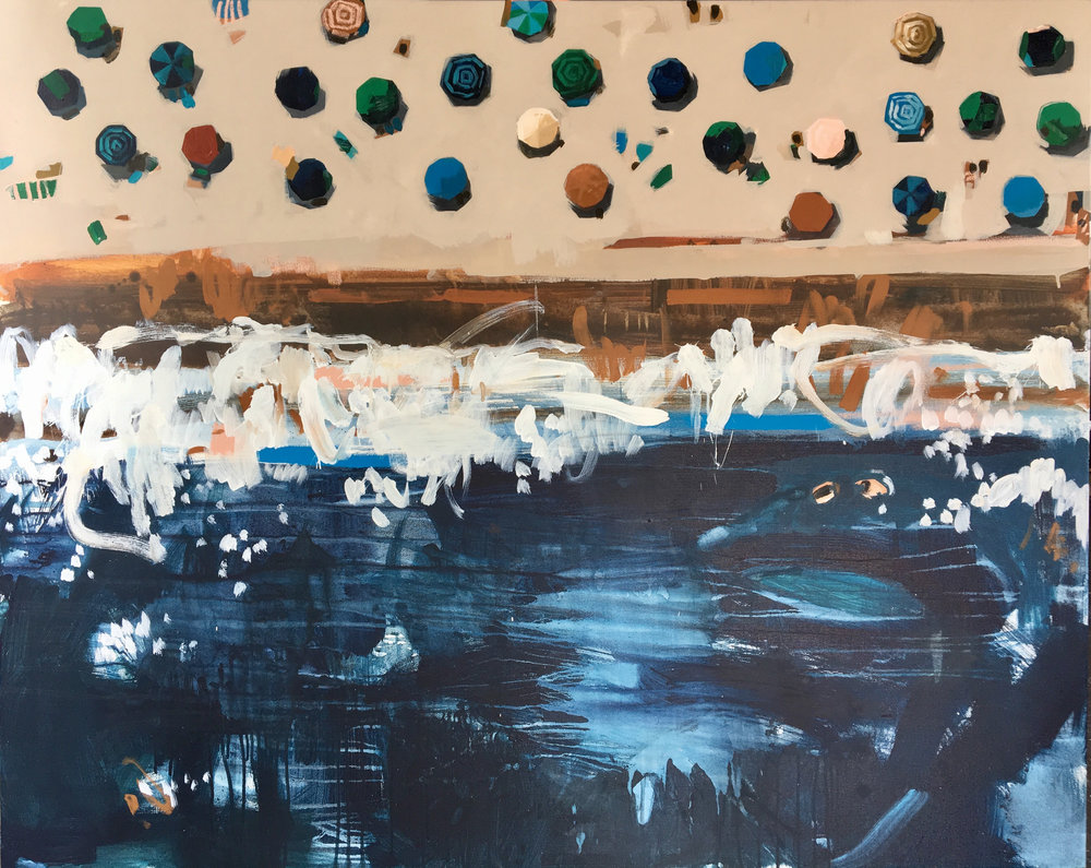 Nina Brooke Liquid Sapphire Acrylic on canvas 150cm x 120cm £5,000