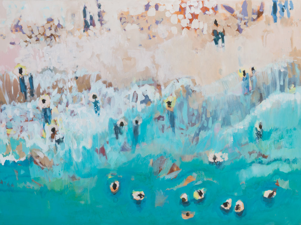 Nina Brooke | Beach Life Limited Edition Giclee Print  75 x 100 cm (29.5 x 39.4 inches) £400 90 x 120 cm (35.4 x 47.2 inches) £500  Edition of 60  Each print is accompanied by a signed certificate of authenticity