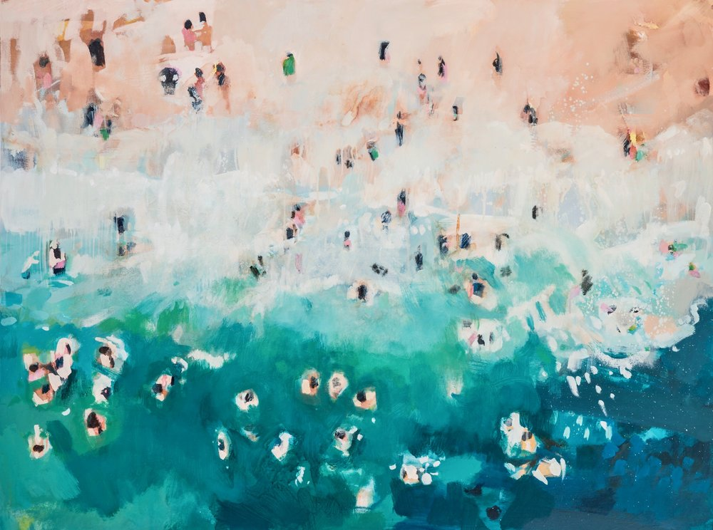 Nina Brooke | Shoreline Limited Edition Giclee Print  74.4 x 100 cm (29.3 x 39.4 inches) £400 89.3 x 120 cm (35.1 x 47 inches) £500  Edition of 60  Each print is accompanied by a signed certificate of authenticity