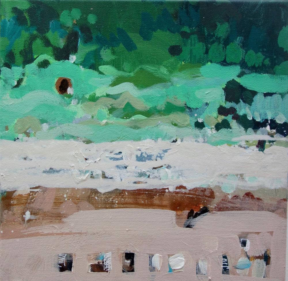 Wajiya Beach II 30 cm x 30 cm  £350