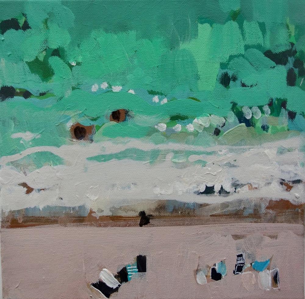Wajiya Beach III 30 cm x 30 cm  £350