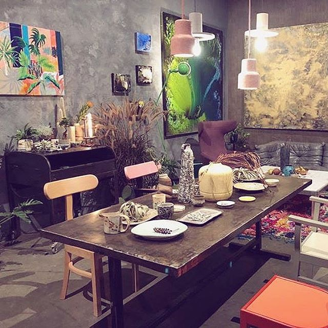 "This interior made by @kata0614 . I love this special athmposphere. Maybe ""nightmare"" of the minimalists but for me would be a perfect dream home😃🙌🦄 I'm honored to see that my paintings being a part of it. @salonbudapest . . . . #perfecthome#contemporaryart#interiorgoals#interiordecoration#interiordesigner#interiordesignideas#inspirations#homedeco#artsy#mixedmedia#bevisuallyinspired#artists#wip#originalart#instagallery#contemporaryartist#visualart#artofvisual#wunderlust#beautyaddict#fanipolonyi"