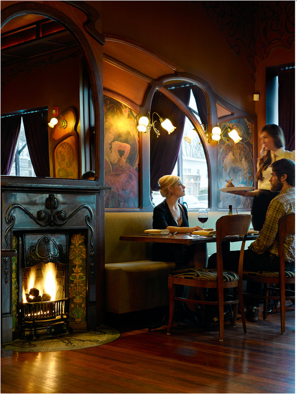 Art Nouveau Restaurant Interior Design